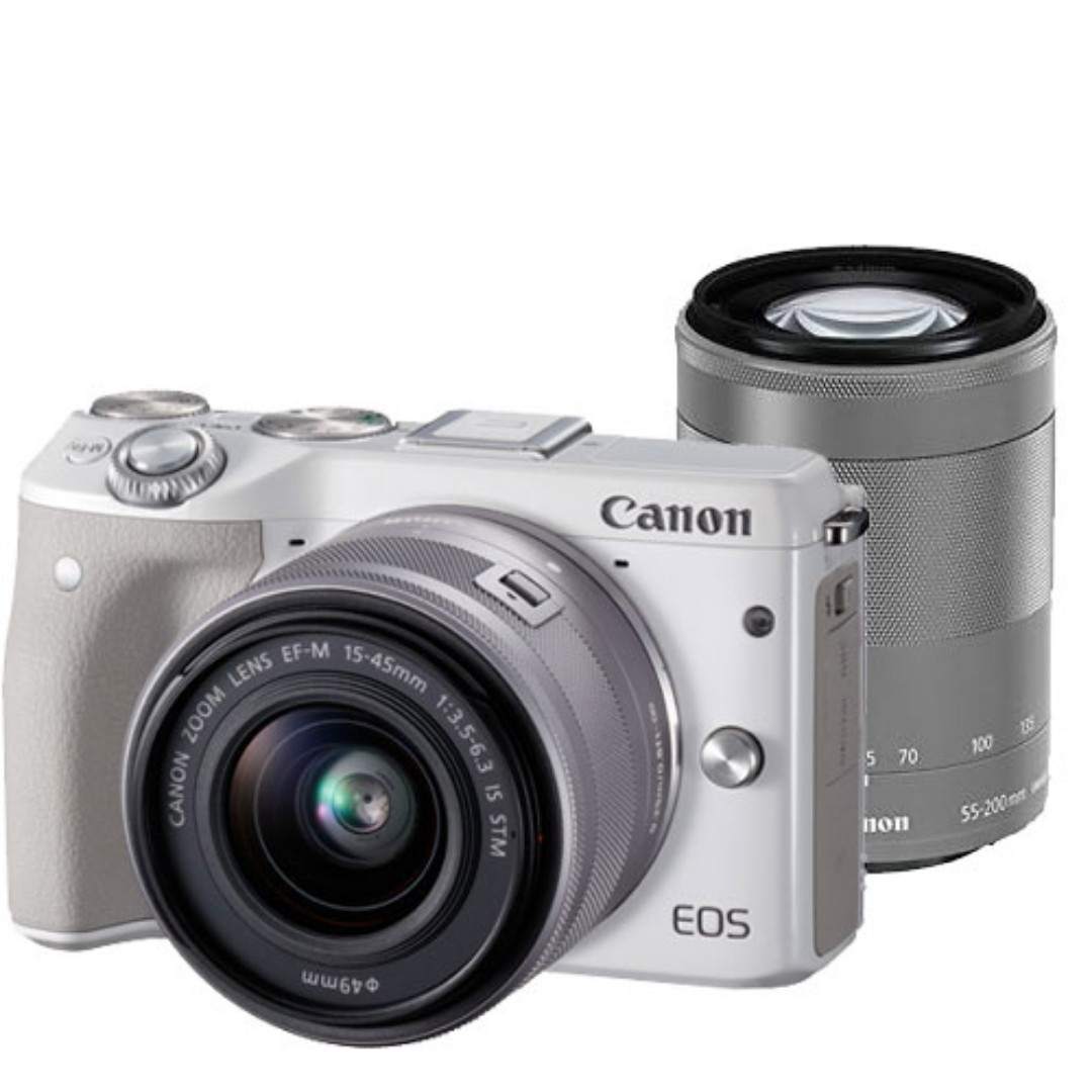 Canon M3 Kit Twin M15 45 55 200mm Photography On Carousell Eos Ef 45mm Kamera Mirrorless Photo