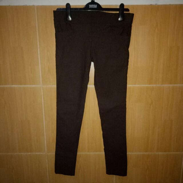 Celana pants coklat