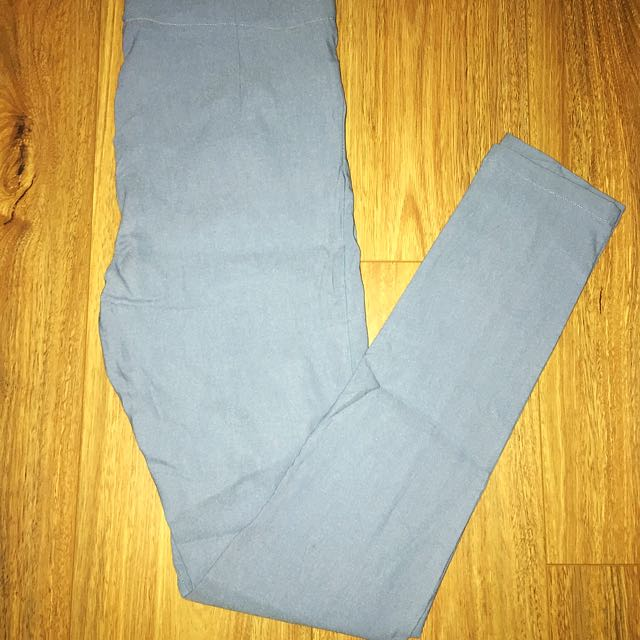 Chicabooti blue denim high wasted pants