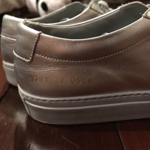 Common projects women silver shoes