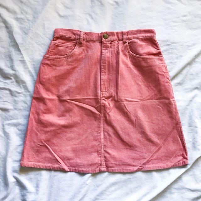 Corduroy salmon skirt