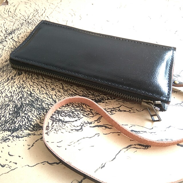 Customize Leather Zipper Long Wallet