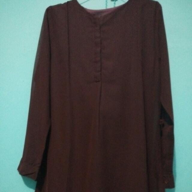 Dress Merah Marron