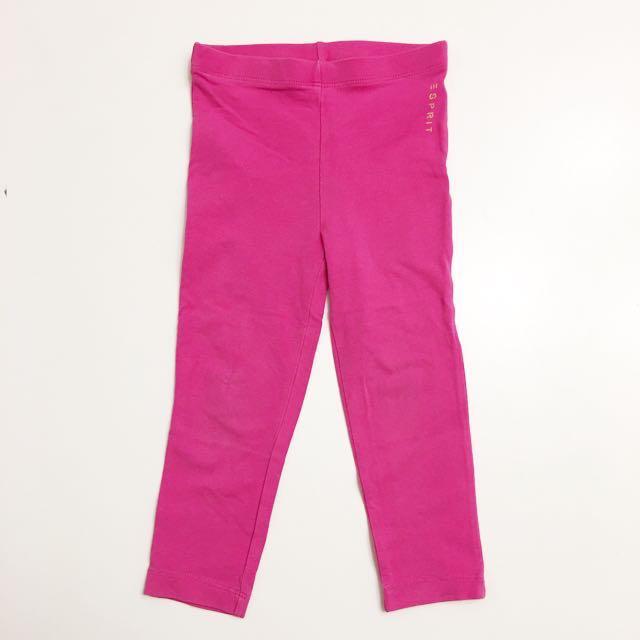 ESPRIT童裝 女童棉質長褲 彈性緊身褲 內搭褲