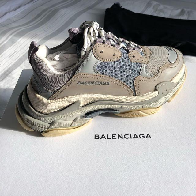 EU40 Balenciaga Triple S Grey, Men's