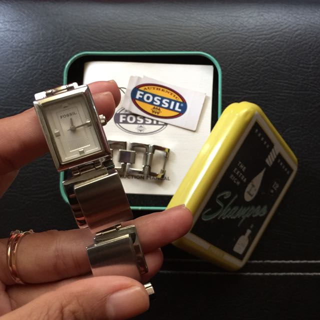 Fossil Square Silver Watch