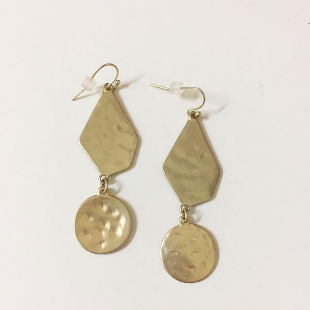 Golden Plated Dangle Earrings