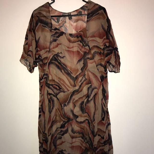 Gorgeous Vesta 100% silk dress L