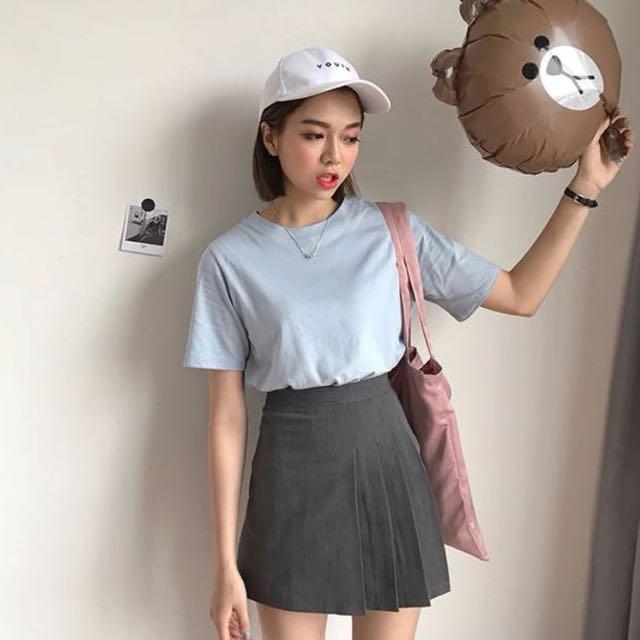 Grey Tennis A Line Skirt