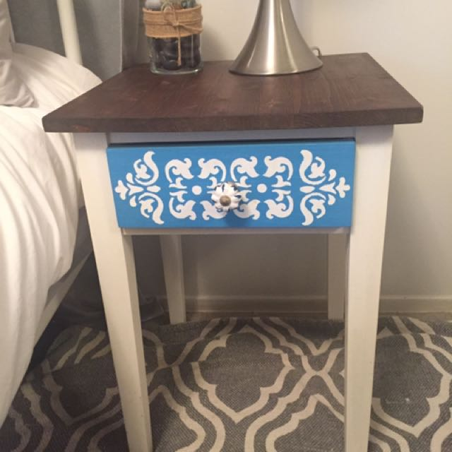 Hand made solid wood nightstand