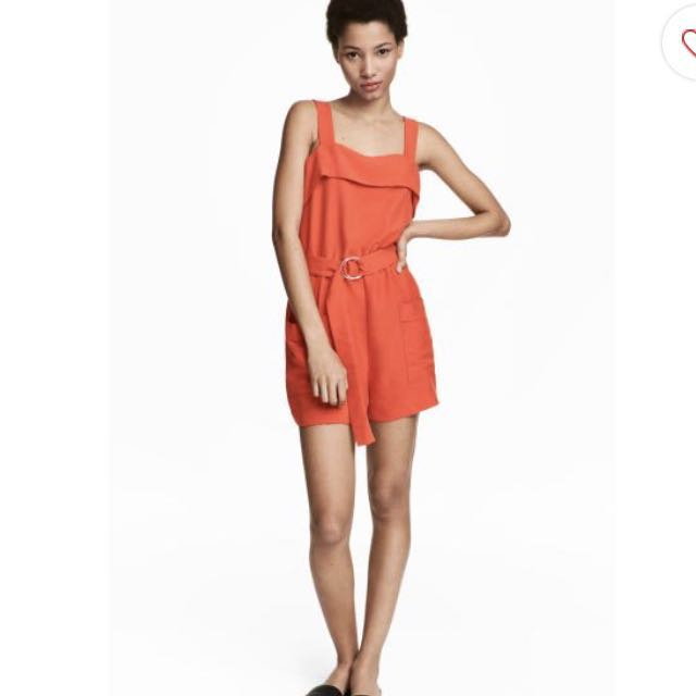 H&M Orange Romper Playsuit