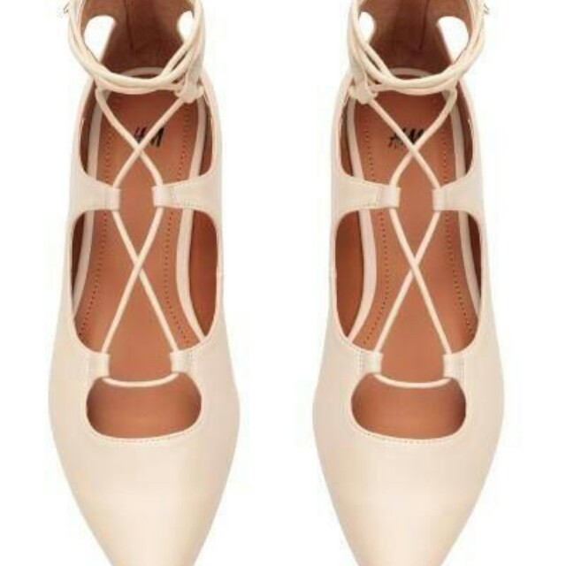Pointed Flats With On H Carousell amp;m Lacing OTPXZiku
