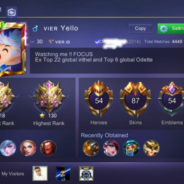 ID MOBILE LEGEND SULTAN, Video Gaming, Video Games on Carousell
