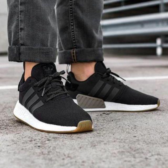 098b9af03 INSTOCK Adidas NMD R2 Black Gum, Men's Fashion, Footwear on Carousell
