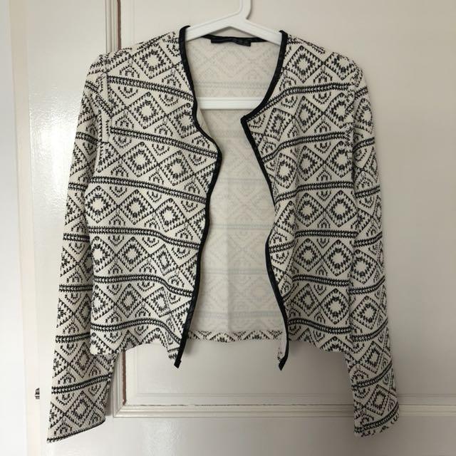 Jacket black & white