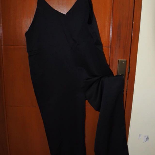 Jumpsuit korea hitam