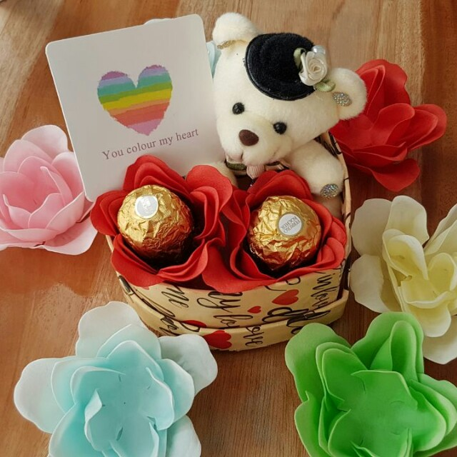 Kado/Hadiah/Hampers/Bunga/Coklat/Boneka Valentine - Double Choco in Box