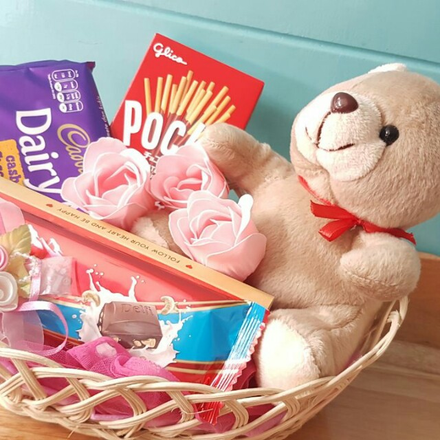 Kado/Hadiah/Hampers/Bunga/Coklat/Boneka Valentine - Mini Bear in Love