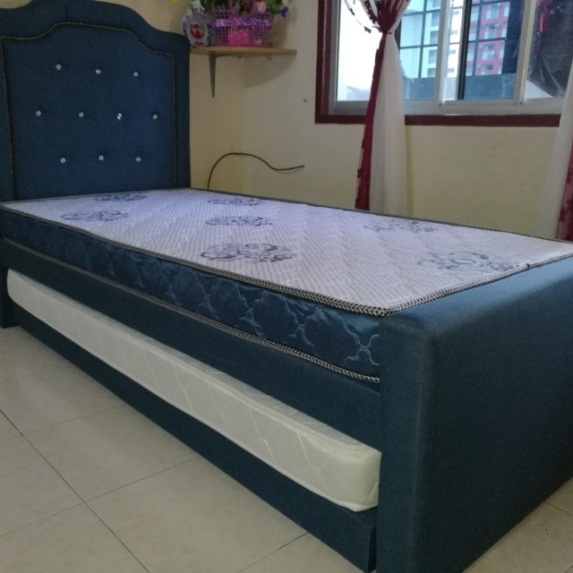 Katil Single Divan Pull Out Home Furniture Others On Carou