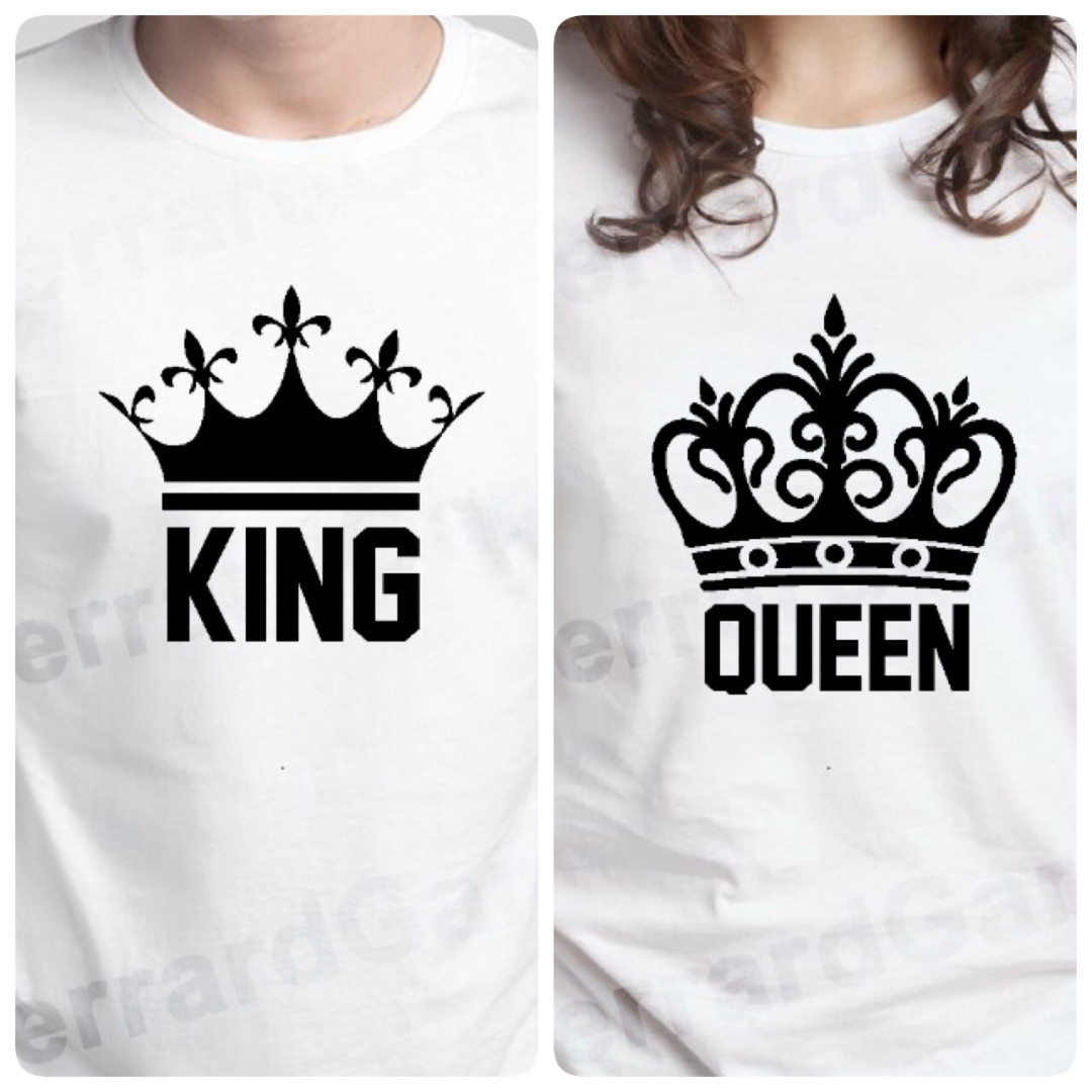 King Queen Crown Couple Top Womens Fashion Clothes Tops On