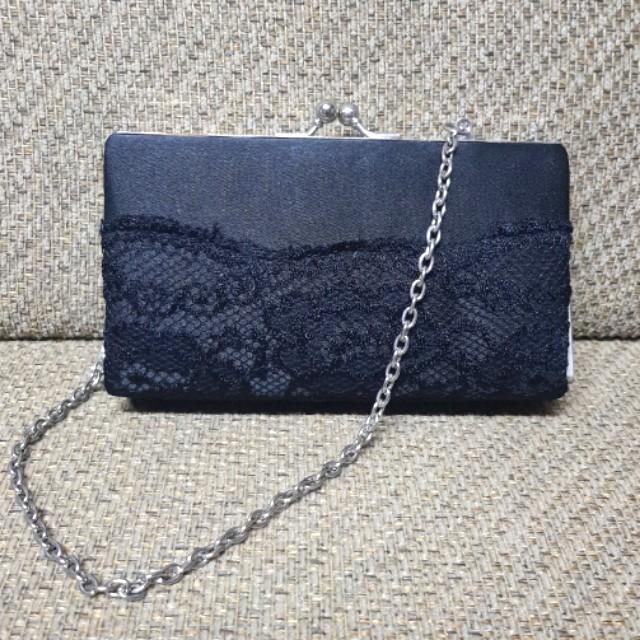 Lace Ladies Clutch (Black)