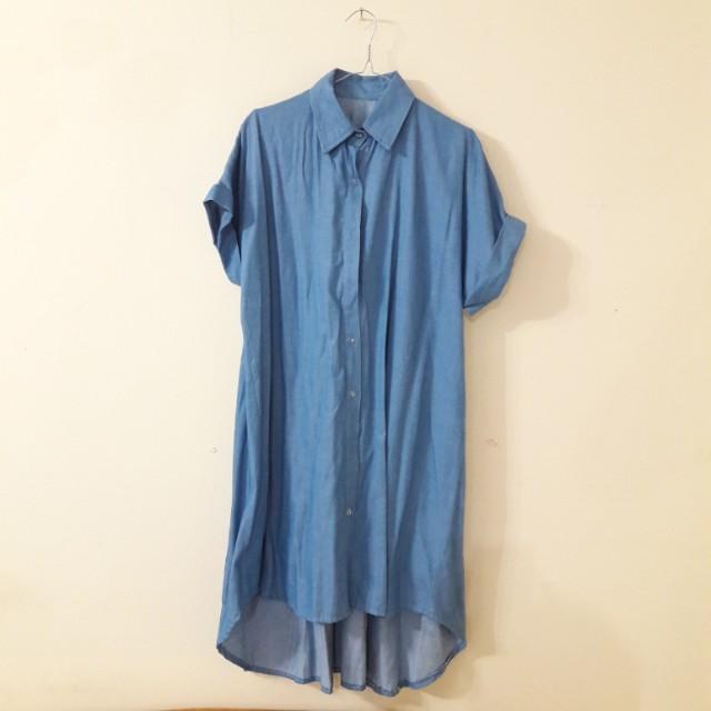 Long denim shirt