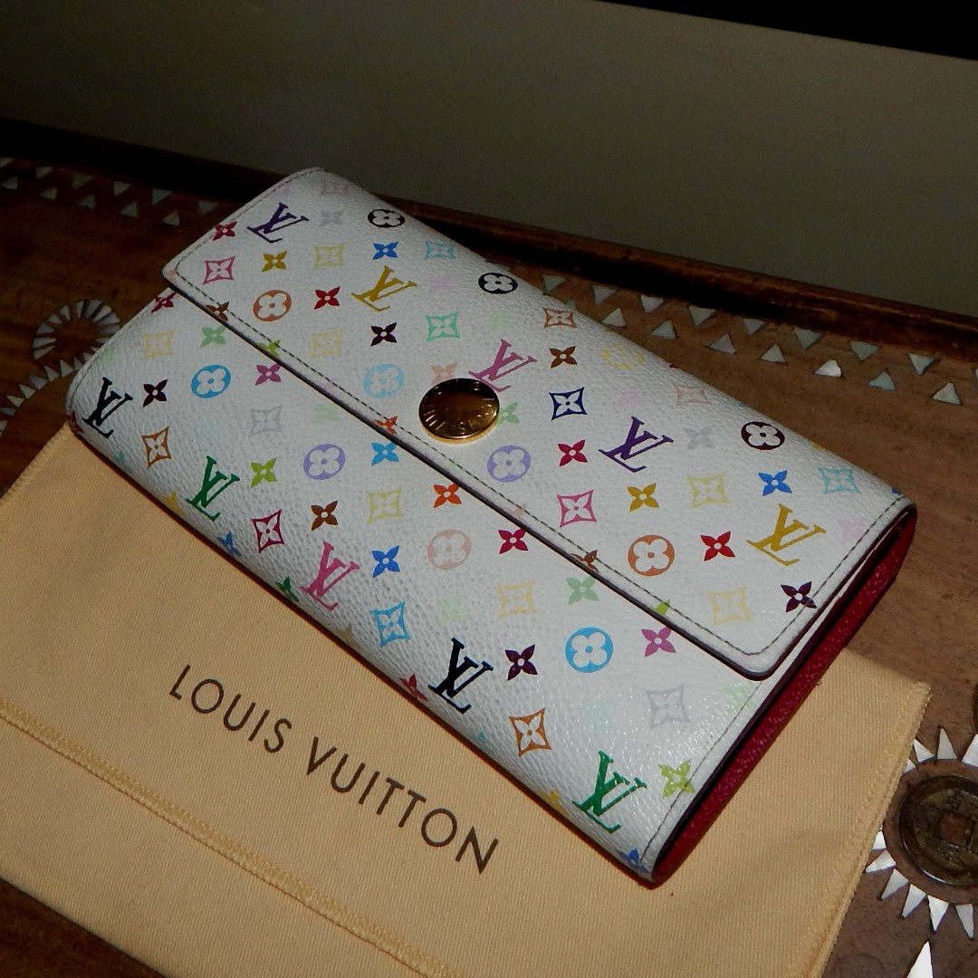 LOUIS VUITTON mono multicolor eglantine sarah wallet