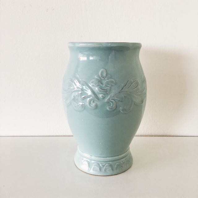 Mint Green Ceramic Vase