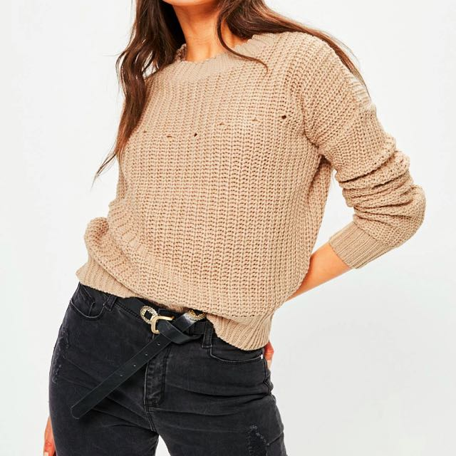 Misguided distressed jumper in size S