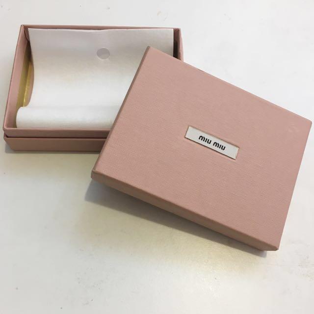 2c75da4bf2f Miu Miu Card Holder Wallet Box