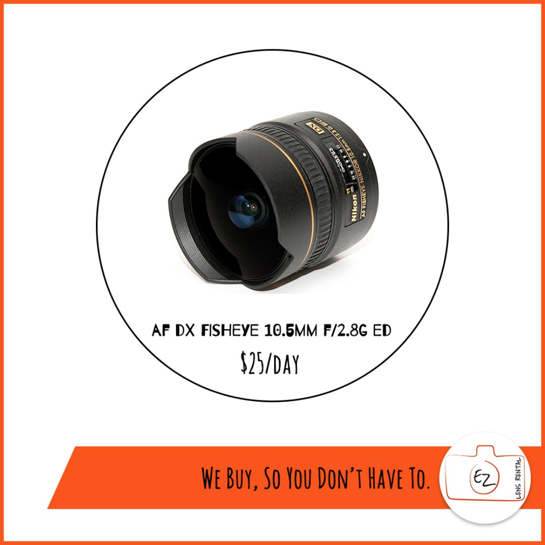 Nikon Fisheye and Macro lens Rental