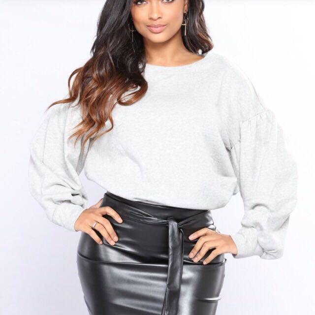 One-shoulder sweater