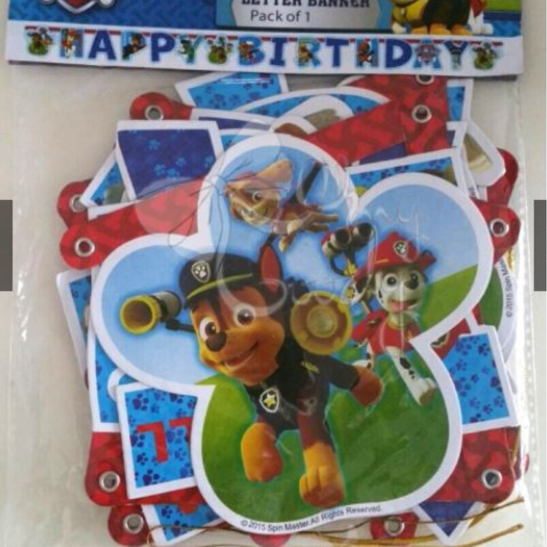 Paw Patrol Happy Birthday Banner Design Craft Others On Carousell