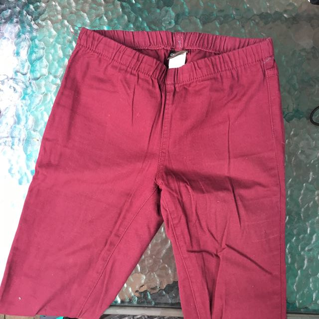 Pieces Maroon Jeggings