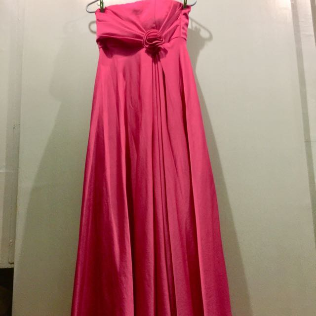 Pink Satin Formal Gown