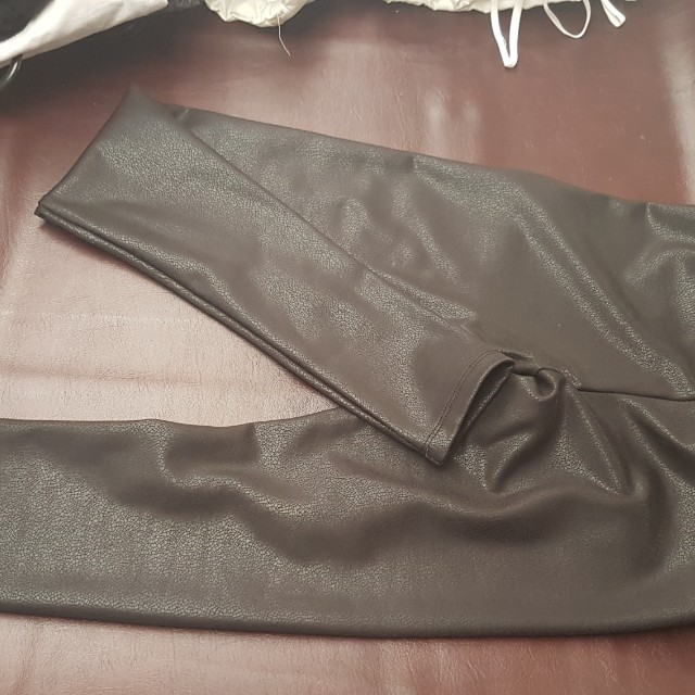 Pleather pants never worn. Size 6