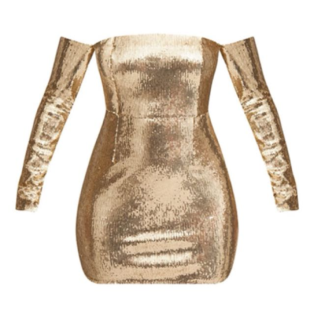 PLT gold sequin dress