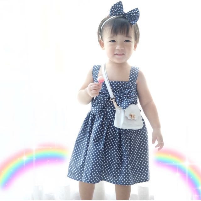 Polkadot dress (include headband)