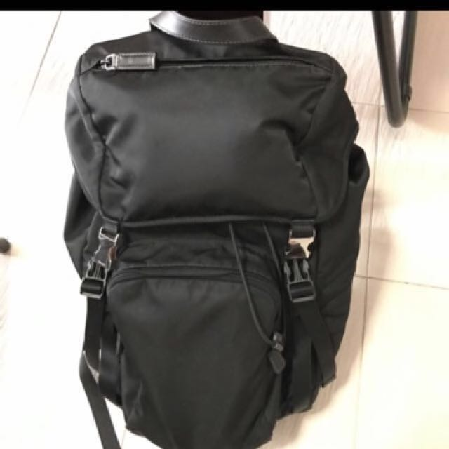 Prada Backpack Nero Black Nylon 125b1a107a792