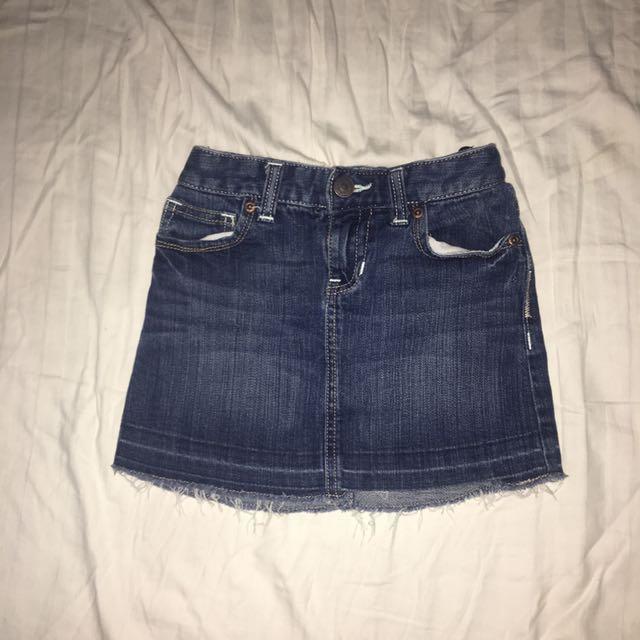 Pre-owned Denim Skirt