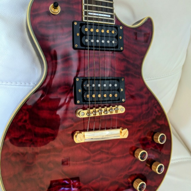2nd Price Drop Free Amp Epiphone Prophecy Les Paul Custom Plus Gx Music Media Music Instruments On Carousell