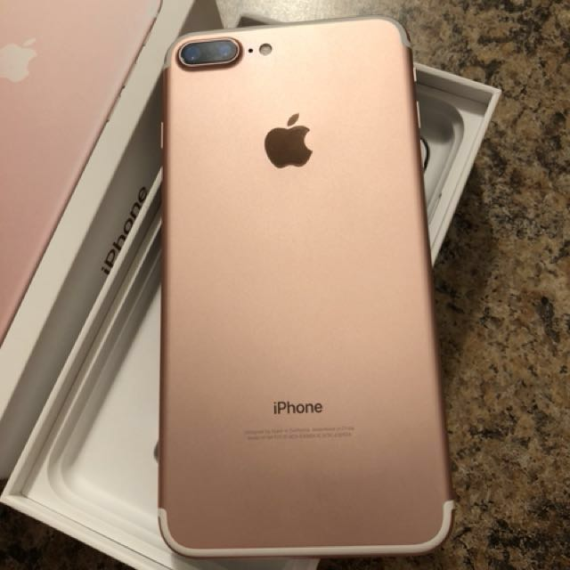*price dropped * iPhone 7 Plus 128GB in rose gold like new 10/10 condition