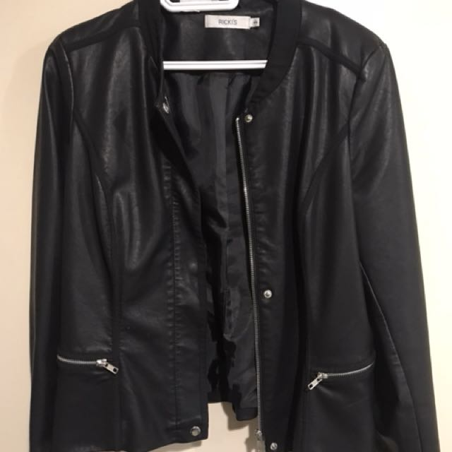 Rickis Size Medium Pleather Jacket