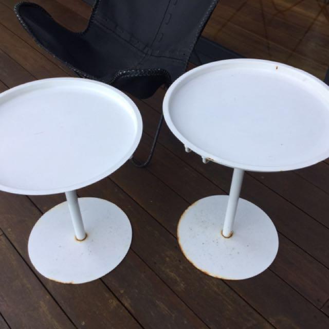 Round adjustable Indoor Outdoor Tray Tables