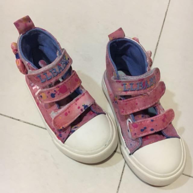 sepatu model boots pink