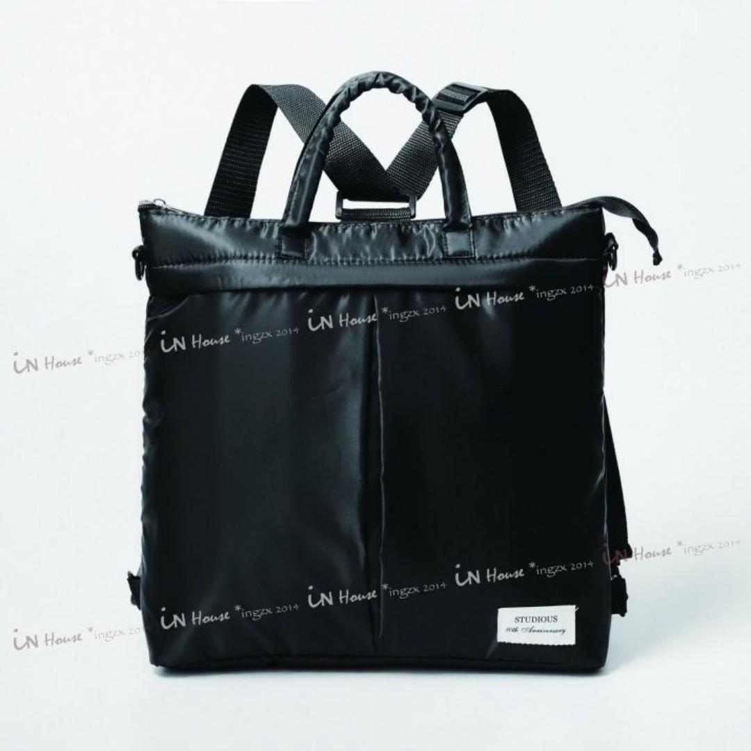 日本smart雜誌附錄STUDIOUS潮牌 男女 三用 雙肩包 公事包 後背包 手提袋 單肩包