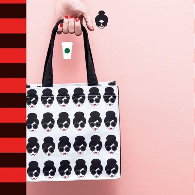 星巴克Starbucks x alice + olivia聯名商品 A + O肖像提袋 搶先開賣 免排隊優先提 現貨