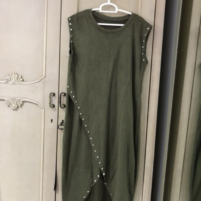 Studded green dress