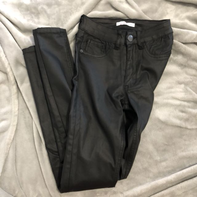 Supre Faux Leather Jeans