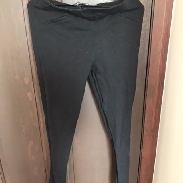 Thick black leggings AU/UK 10